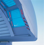 Inside Ergoline 300 Tanning Bed